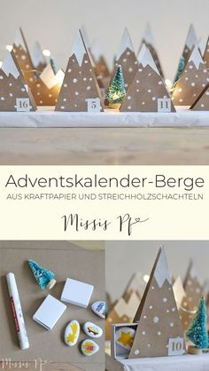 Advent mountains Best Picture For christmas snacks For Your Taste You are looking for something, and it is going to tell you exactly what you … German Christmas, Noel Christmas, Homemade Christmas, All Things Christmas, Christmas Crafts, Advent Calenders, Diy Advent Calendar, Christmas Tree Decorations, Holiday Decor