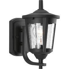 Progress Lighting East Haven 10.375-in H Black Outdoor Wall Light