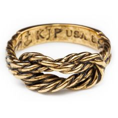 Antique Gold Sailor Knot Ring (1,765 DOP) ❤ liked on Polyvore featuring jewelry, rings, knot jewelry, anchor jewelry, anchor ring, antique gold rings and sailor jewelry