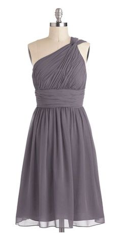 Grey one shoulder style. love!