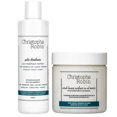 Christophe Robin Detangling Gelée and Cleansing Purifying Scrub with Sea Salt is ideal as a detox treatment, as it cleanses, purifies and restores balance to sensitive and oily scalps. Sea Salt effectively removes impurities from the scalp and helps to stimulate circulation, while supplying rebalancing mineral salts. The scrub also contains a 100% plant-derived moisturising agent to deliver a long-lasting moisturising effect and can be used as a postcolour treatment to soothe tingling and itchin Sensitive Scalp, Oily Scalp, Dandruff Remedy, Hydrating Shampoo, Luxury Hair, Damp Hair Styles, Hair Health, Active Ingredient, Organic Skin Care