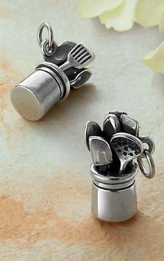 A charm for the ugh-drudge cook. It's cute, I will admit.
