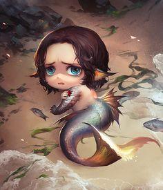 "dertoddesliebling: ""「Mermaid」/「疾速k」のイラスト [pixiv] """