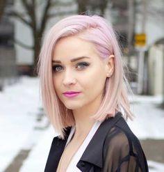 Pink pastel bob