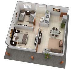 Superb House Design · 3d Architect · Studio Apartments · Estandar 49 M2