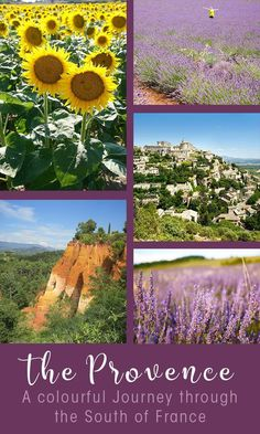 The Provence in the South of France is an inspiration and famous for the iconic colours of the Provence. I present to you: white, red, purple and yellow. Travel in Europe.