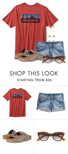 """Road trip home from Orlando"" by flroasburn ❤ liked on Polyvore featuring Patagonia, H&M, Birkenstock and Forever 21"