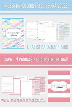 CADERNINHO DE DEVOCIONAL PARA BAIXAR   PLANNER   GRÁTIS   PARA IMPRIMIR   Manual da Garota Cristã