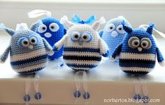 Crochet bird and owl free pattern - love their little legs :-)