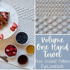 Volume One Hand Towel - Free Crochet Pattern - EyeLoveKnots