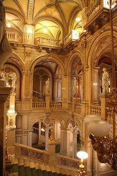 Vienna State Opera House, Austria ~ built 1861-69 in Neo-Renaissance style. Photo: tomquah via Flickr