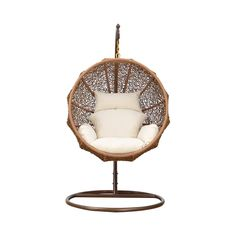 Cuddle up with a good book or evening cocktail in this chic and cozy seat. This Nested Hanging Lounge Chair features a suspended circular seat and will make a stylish addition to your contemporary livi...  Find the Nested Hanging Lounge Chair, as seen in the A Very Bohemian Holiday Home Collection at http://dotandbo.com/collections/styleyourseason-a-very-bohemian-holiday-home?utm_source=pinterest&utm_medium=organic&db_sku=112007