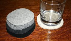 Cobblestones III Wool Felt Drink Coasters 5mm Thick