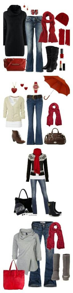I Love the red accents and the outfits.