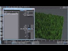 CONTROLLING INSTANCES WITH WEIGHT MAPS -- Make a field of grass by instancing a single blade over the surface of another object. Also covers the basics of weight maps and deformations  to control instances.