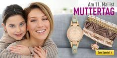 Am 11. Mai ist Muttertag. In unserem Muttertags-Special findet Ihr viele tolle Geschenkideen! http://www.uhrcenter.de/muttertag-geschenke/