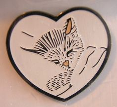 Chessie Kitten in Heart Railroad Train Pin | eBay