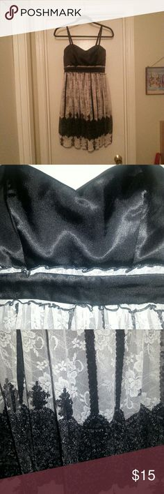 Studio Y Black /white lace dress size small Super cute Studio Y black and white lace dress size small but could easily fit medium in my opinion. Studio Y Dresses Midi