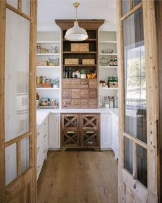 Farmhouse kitchen pantry inspiration, The Best Farmhouse Pantry Inspiration – A huge collection of beautifully organized pantries that , Home Design, Design A Space, Big Design, Design Styles, Decor Styles, Design Ideas, Kitchen Pantry Design, New Kitchen, Kitchen Counters