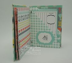 Stampin' Up! Homemade Recipe Books, Diy Recipe, Scrapbook Pages, Scrapbooking, Domestic Goddess, Pretty Packaging, Recipe Cards, Handicraft, Mini Albums