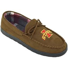 Men's Iowa State Cyclones Microsuede Moccasins, Size: 10, Brown