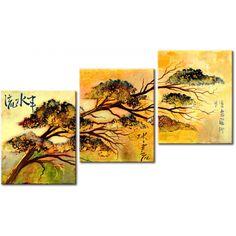 Quadro dipinto a mano in stile orientale nella galleria Artgeist #quadro #dipinti #quadrodipintoamano #dipintisutela #homedecor #oriente #orientale #asia