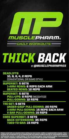 musclepharm back workout - Google Search