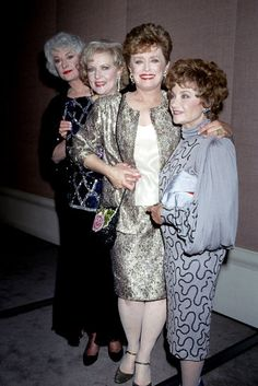 The Golden Girls, 1991 The Golden Girls Bea Arthur, Betty White, Rue McClanahan, and Estelle Getty attended the Golden Globes in 1991.