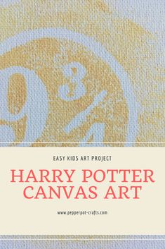 Easy kids diy canvas art project using cut out shapes to make silhouette art. Harry Potter inspired wall art for kids bedroom. Easy Kids Art Projects, Easy Art For Kids, Canvas Art Projects, Diy Canvas Art, Fun Crafts To Do, Kids Crafts, Fun Activities For Kids, Art Activities, School Holiday Crafts