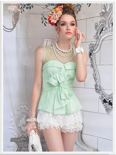 I actually really like this mint green bow shirt.    Pink Large Doll (粉红大布娃娃). Chinese Fashion.