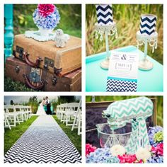 chevron wedding theme | chevron has been a huge new trend this year and not just in weddings ...