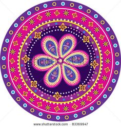 Colorful Indian pattern by alkkdsg, via ShutterStock