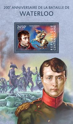 Post stamp Central African Republic CA 15110 b200th anniversary of the battle of Waterloo (Napoléon Bonaparte (1769–1821))