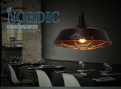 LOFT retro bar restaurant bar iron warehouse modern minimalist industrial control pendant light