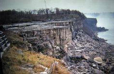 Quand on a «coupé l'eau» des chutes du Niagara en 1969 pour faire une étude sur l'érosion.