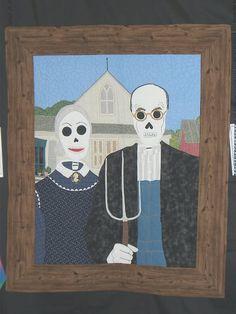 American Gothic de los Muertos...one of a series by Nancy Arseneault