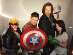 SPN Assemble! :D  Awesome photo op from SFCon2015