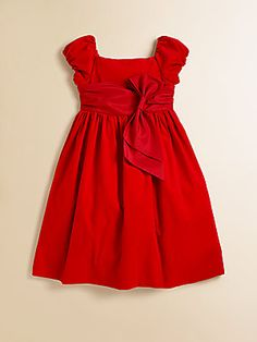 Ralph Lauren Toddler's & Little Girl's Wale Corduroy Dress-cute for Christmas but could be worn all year.