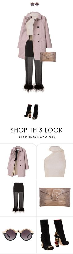 """eva0337"" by evava-c ❤ liked on Polyvore featuring Mackintosh Philosophy, Cushnie Et Ochs, Prada, Pantera, ASOS and Dolce&Gabbana"