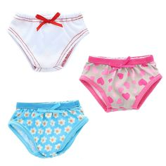 Beautiful set of underwears Fits American Girl Dolls, My Life Doll, Our Generation and other 18 inches Dolls.