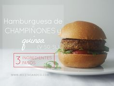 Hamburguesa de CHAMPIÑONES y QUINOA | Recetas and Co. (www.recetasandco.com)  #quinoa #hamburguesavegetal #veggie #vegano #vegan #vegetariano #flexiteriano #