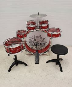 Look at this Red Large Drum Set on #zulily today!