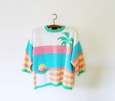 Pastel Vintage California Sunset Sweater / Rare by thehappyforest, $42.00