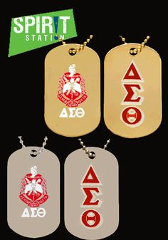 Delta Sigma Theta Double Sided Dog Tag