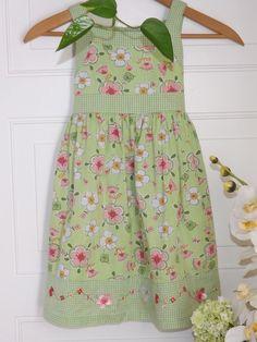 Girls, Blueberi Boulevard Green Floral & Checkered dress   Sz. 6 #BlueberiBoulevard#Birthday#Easter#Springdresses#girlsdresses$7.85
