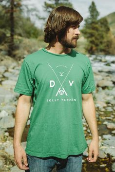 Men's DVOC Logo Tee - Simple and classic, it doesn't get much better than that! Made from the softest cotton available, our tees are sure to spend more time on your back than anything in your closet! Dolly Varden, Logo, Simple, Classic, Mens Tops, Cotton, Closet, Fashion, Derby