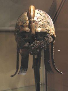 Helm of a viking at the museum of Gustavianum,  Uppsala, Sverige, Sweden