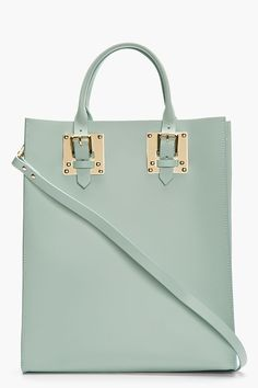 SOPHIE HULME Mint Structured Leather Buckled Tote