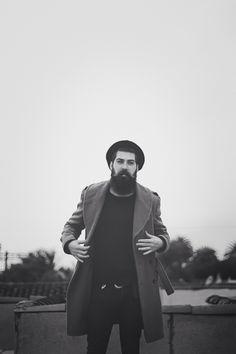 Lane Toran - beautiful full thick dark beard and mustache beards bearded man men mens' style fashion dapper portrait handsome #beardsforever