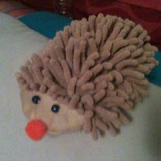Hedgehog made from car wash mitt